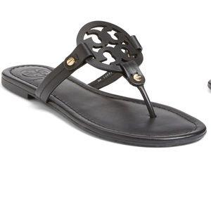 "Tory Burch black ""Miller"" sandals"
